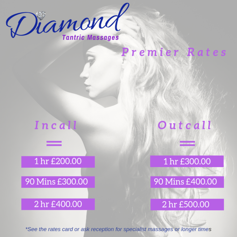 Diamond Premier Rate Card Extra Outcall costs